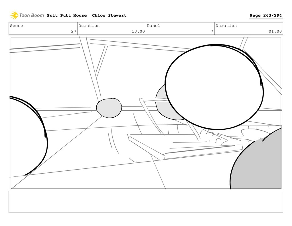 Scene 27 Duration 13:00 Panel 7 Duration 01:00 ...