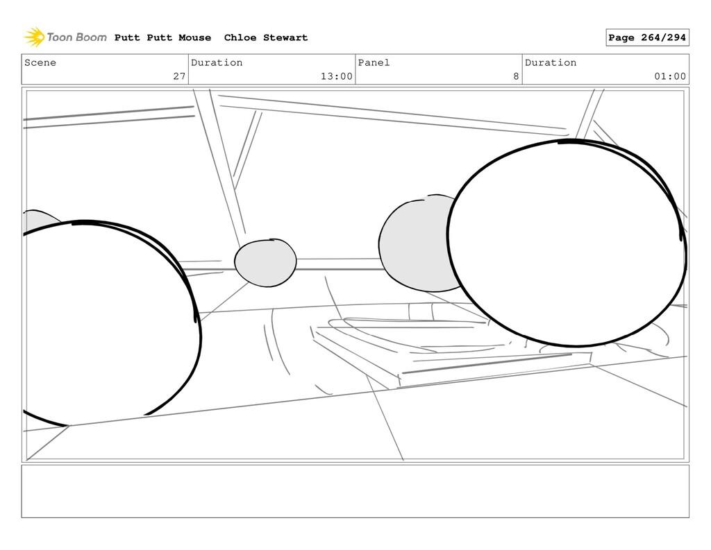 Scene 27 Duration 13:00 Panel 8 Duration 01:00 ...