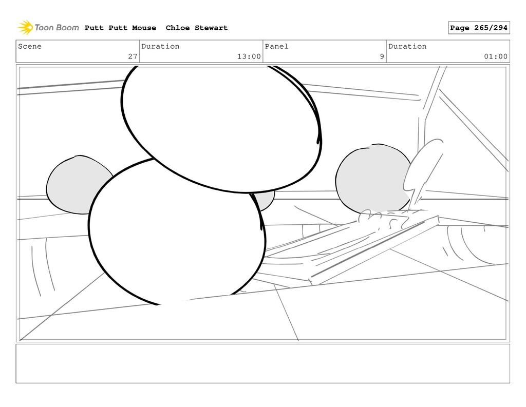 Scene 27 Duration 13:00 Panel 9 Duration 01:00 ...