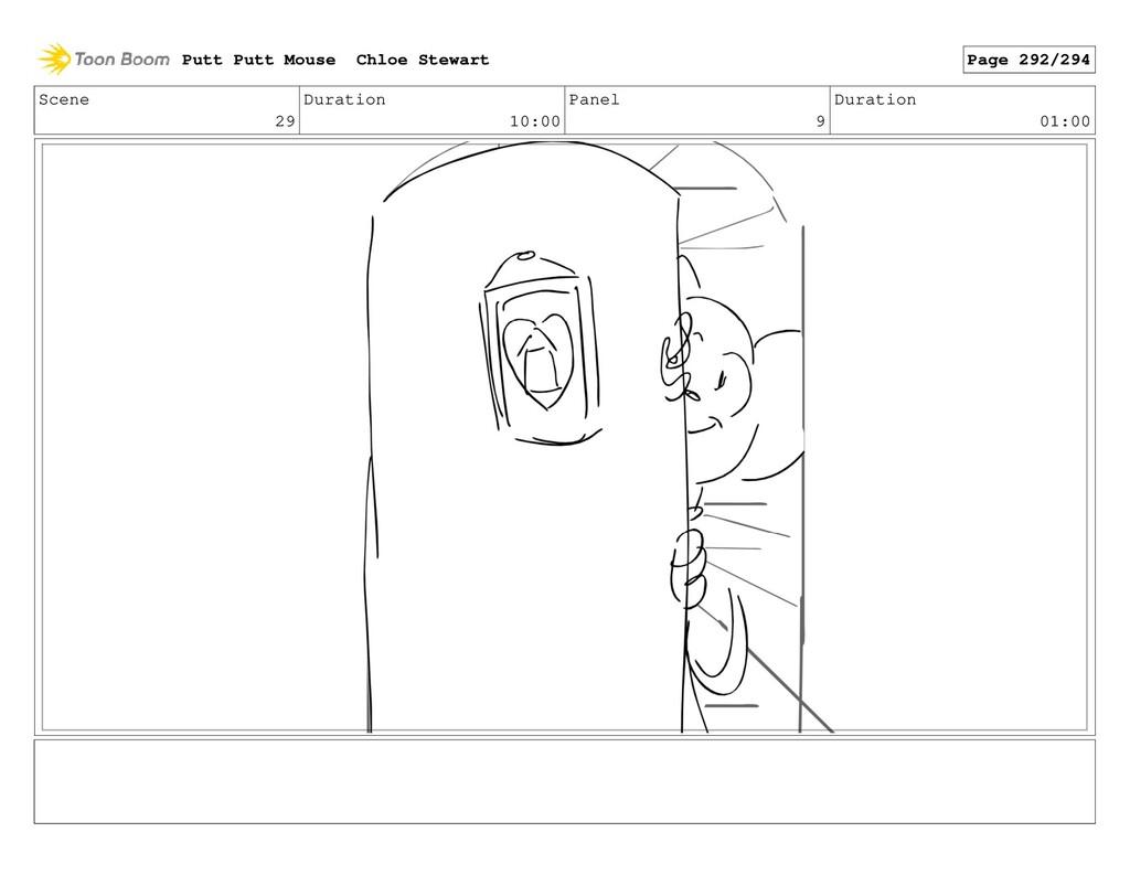 Scene 29 Duration 10:00 Panel 9 Duration 01:00 ...