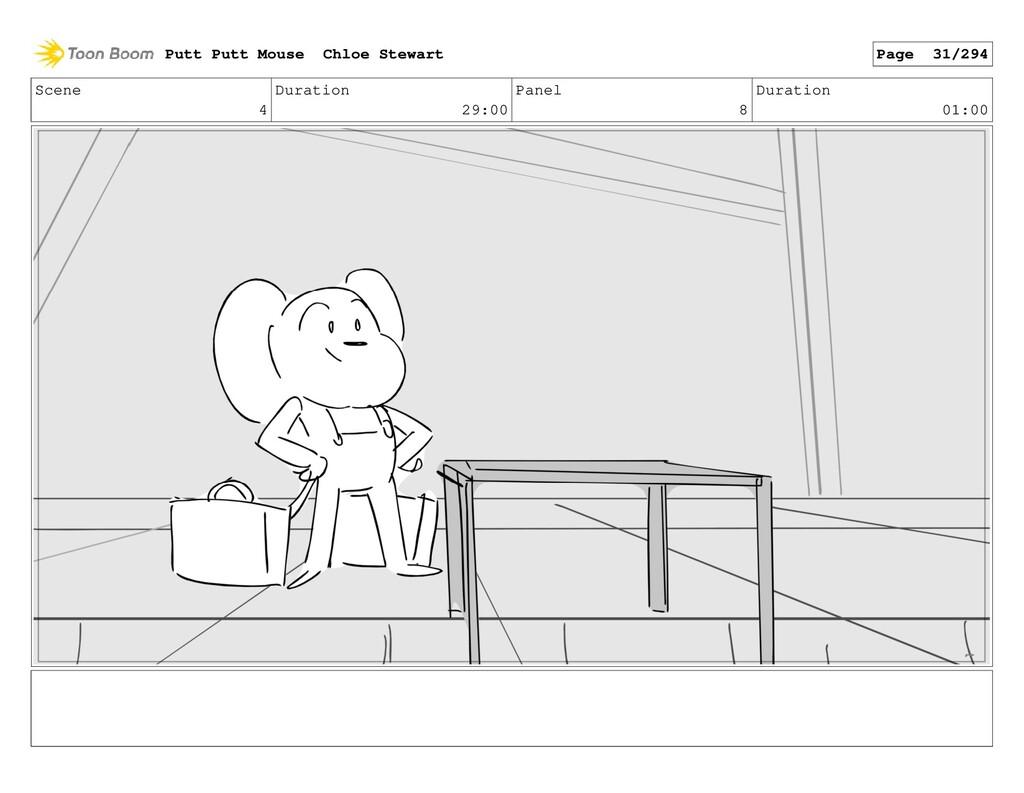 Scene 4 Duration 29:00 Panel 8 Duration 01:00 P...