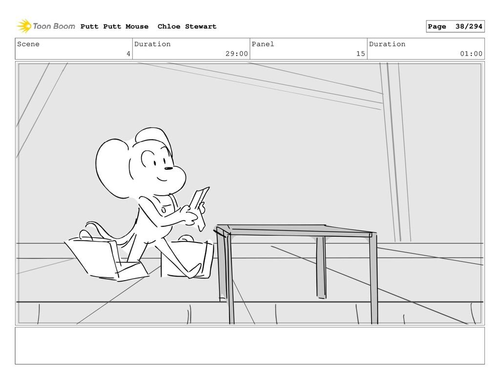 Scene 4 Duration 29:00 Panel 15 Duration 01:00 ...