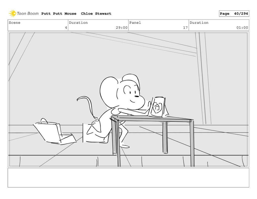 Scene 4 Duration 29:00 Panel 17 Duration 01:00 ...