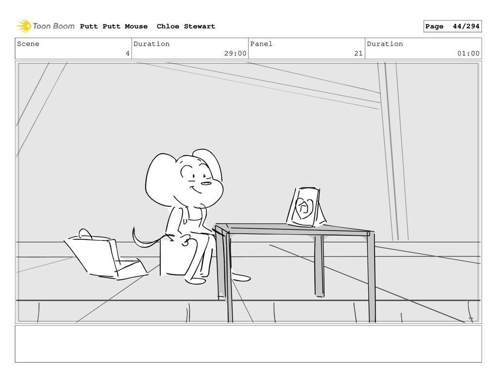 Scene 4 Duration 29:00 Panel 21 Duration 01:00 ...
