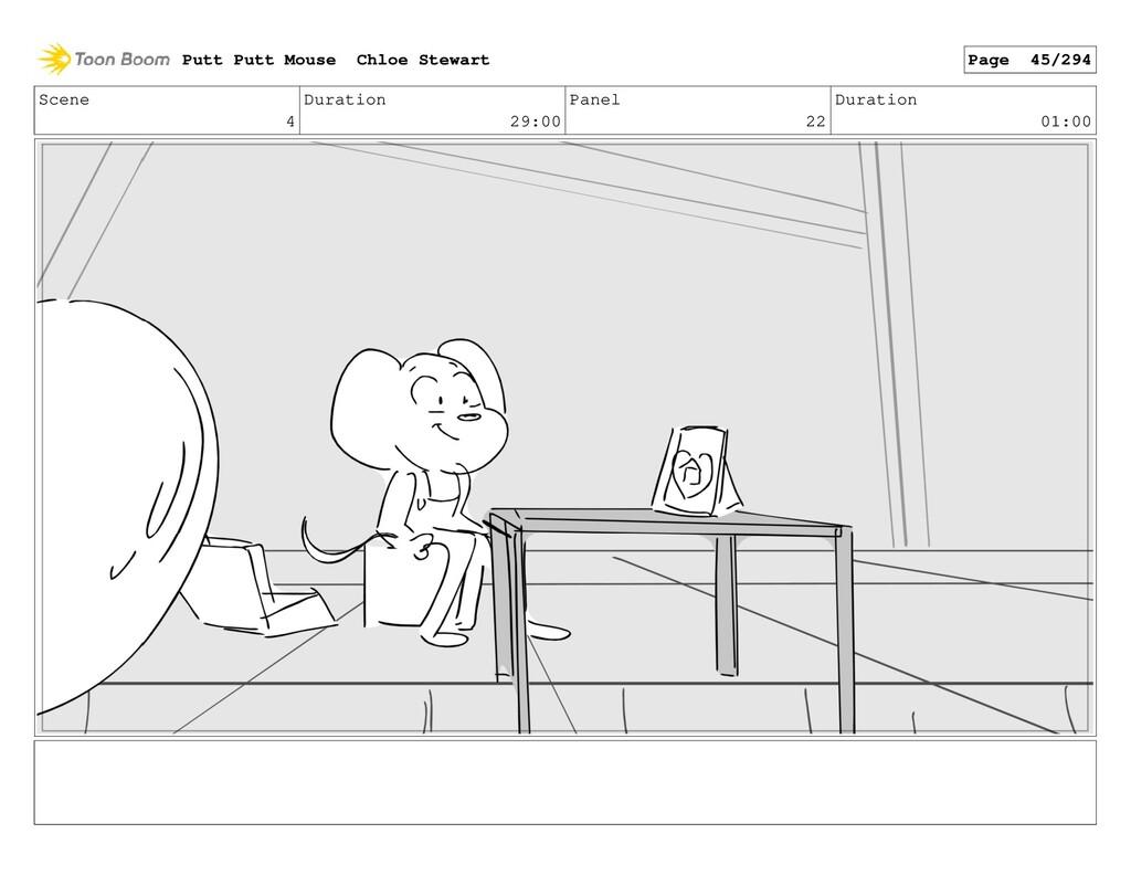 Scene 4 Duration 29:00 Panel 22 Duration 01:00 ...
