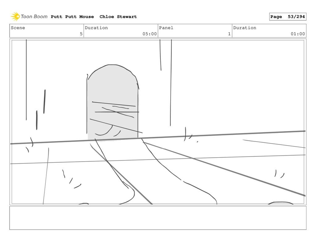 Scene 5 Duration 05:00 Panel 1 Duration 01:00 P...
