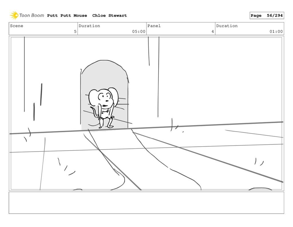 Scene 5 Duration 05:00 Panel 4 Duration 01:00 P...