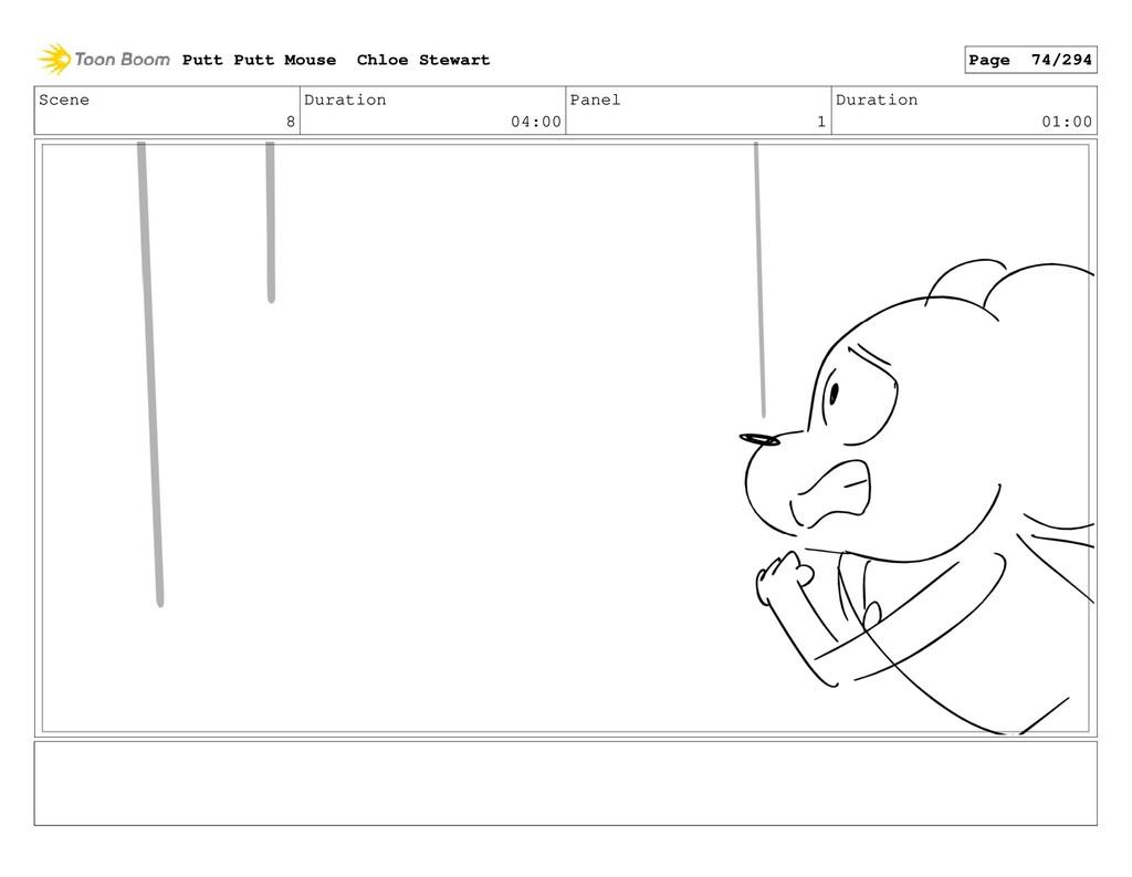 Scene 8 Duration 04:00 Panel 1 Duration 01:00 P...