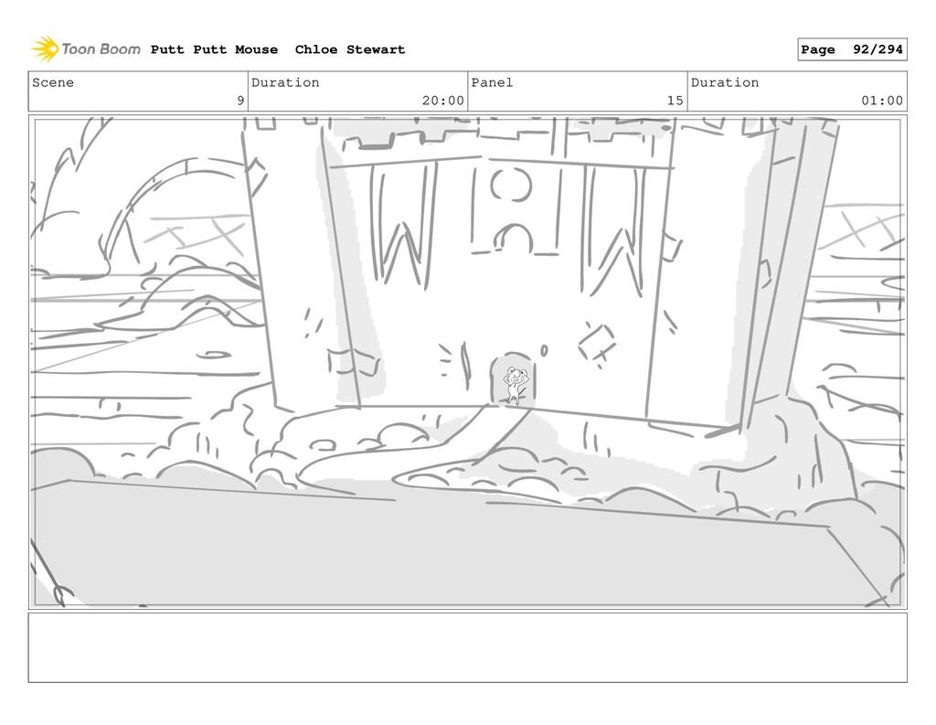 Scene 9 Duration 20:00 Panel 15 Duration 01:00 ...