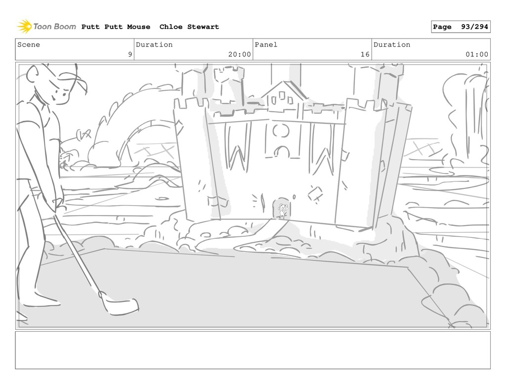 Scene 9 Duration 20:00 Panel 16 Duration 01:00 ...