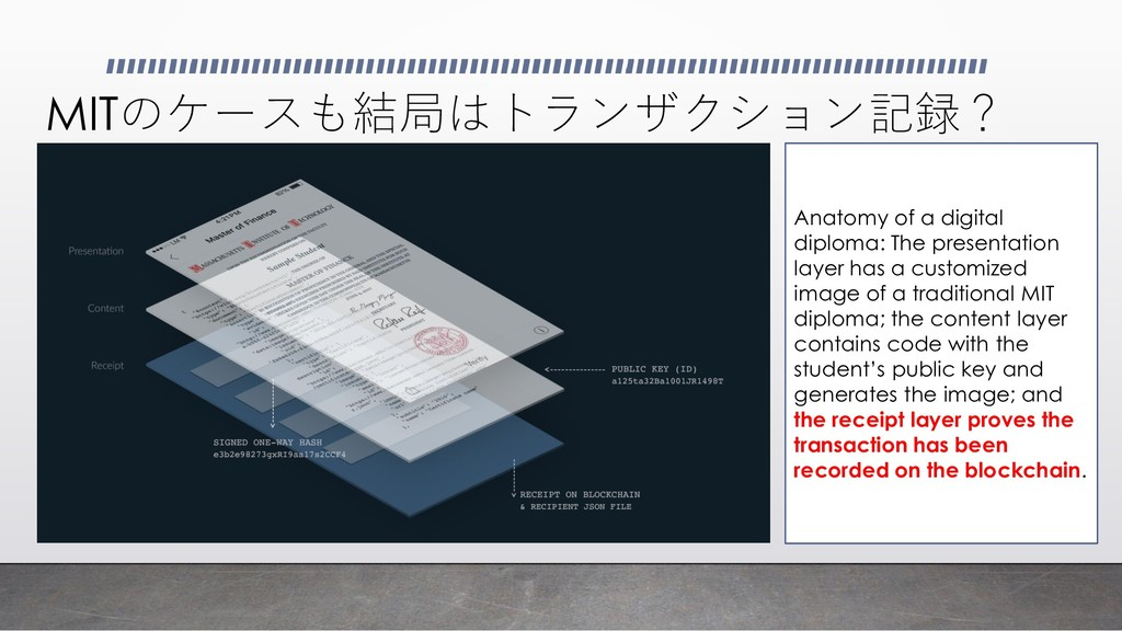 MITのケースも結局はトランザクション記録? Anatomy of a digital dip...