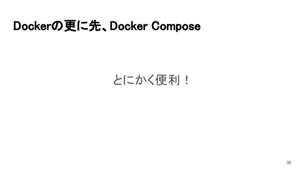 Dockerの更に先、Docker Compose とにかく便利! 38