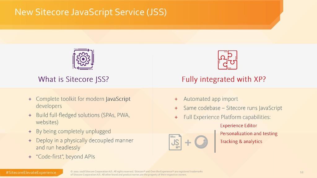 #SitecoreElevateExperience 12 New Sitecore Java...