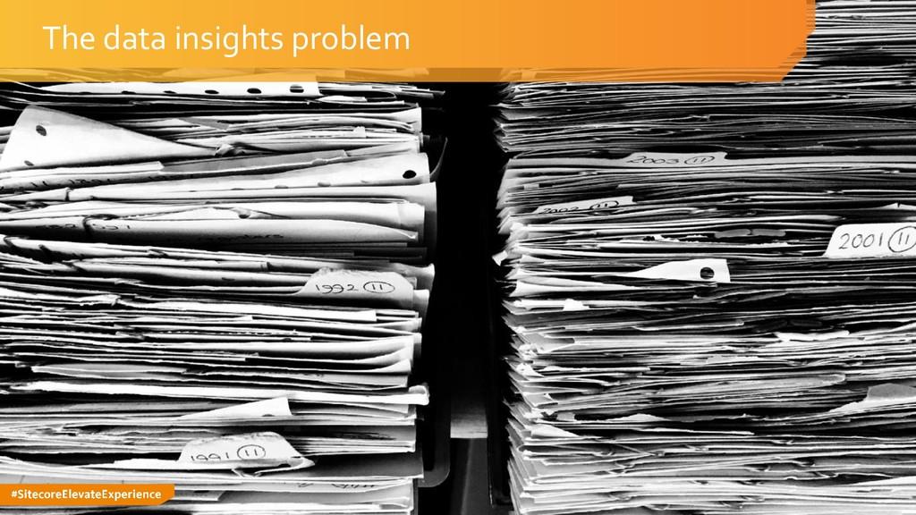 #SitecoreElevateExperience The data insights pr...