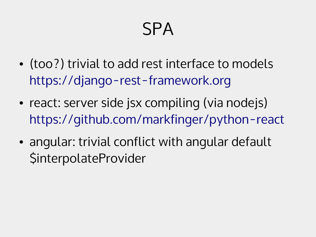 SPA ● (too?) trivial to add rest interface to m...