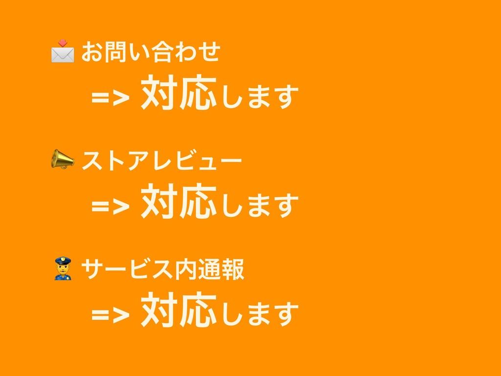 ͓͍߹Θͤ ɹ=> ରԠ͠·͢  ετΞϨϏϡʔ ɹ=> ରԠ͠·͢  αʔϏε௨ใ ...