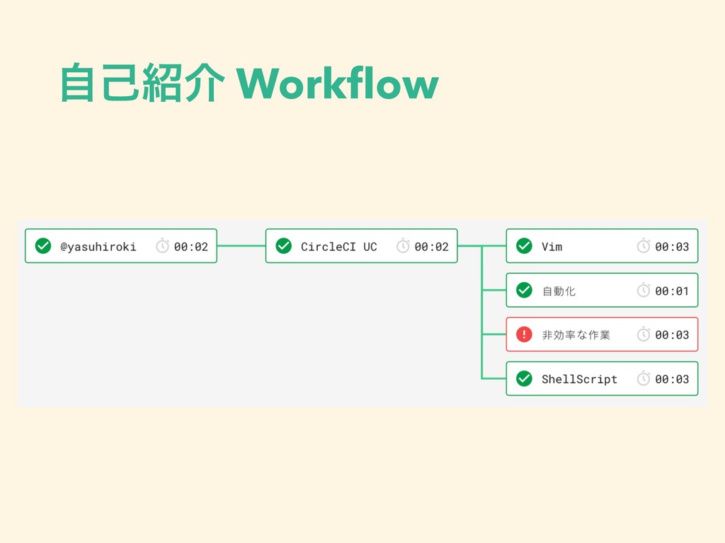ࣗݾհ Workflow