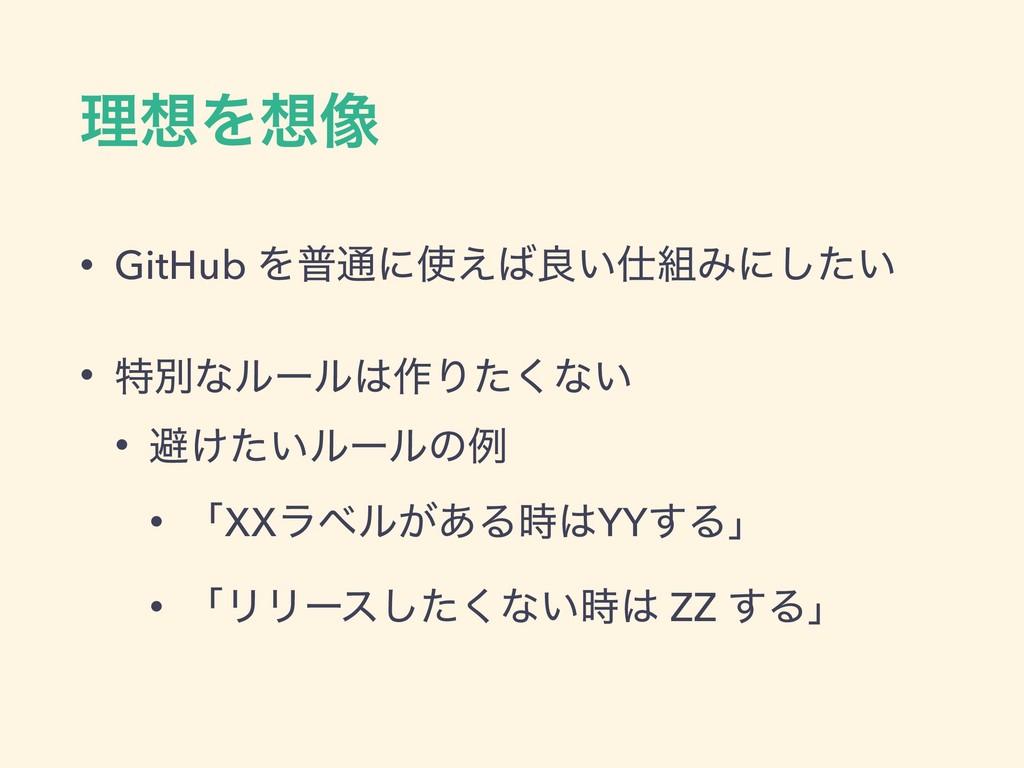 ཧΛ૾ • GitHub Λී௨ʹ͑ྑ͍Έʹ͍ͨ͠ • ಛผͳϧʔϧ࡞Γͨ͘ͳ͍...