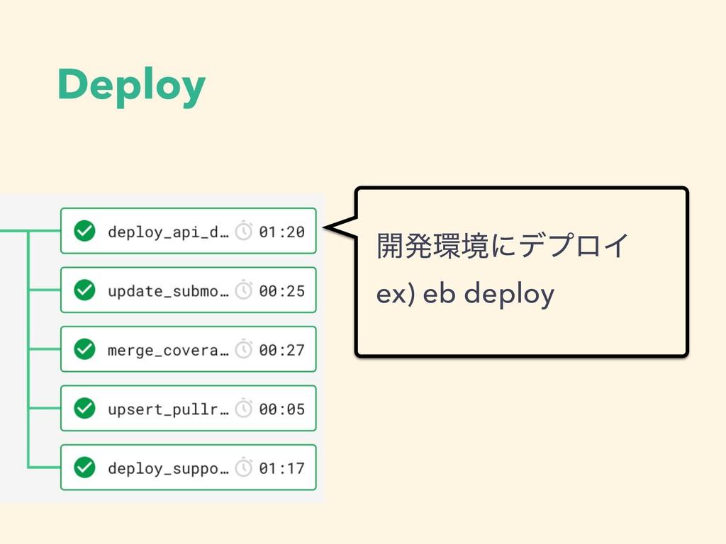 Deploy ։ൃڥʹσϓϩΠ ex) eb deploy