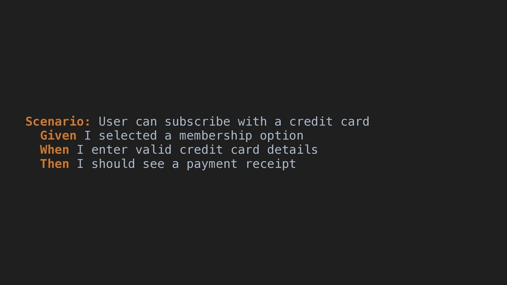 Scenario: User can subscribe with a credit card...
