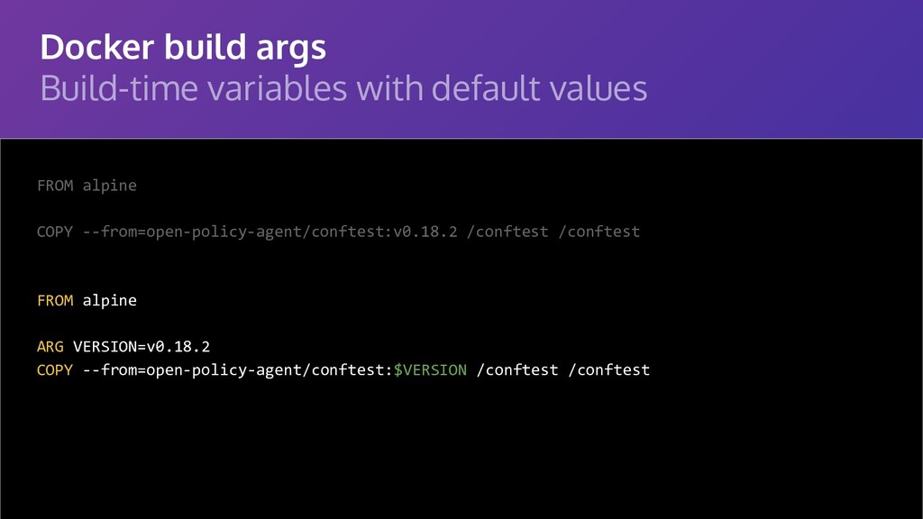 Docker build args Build-time variables with def...