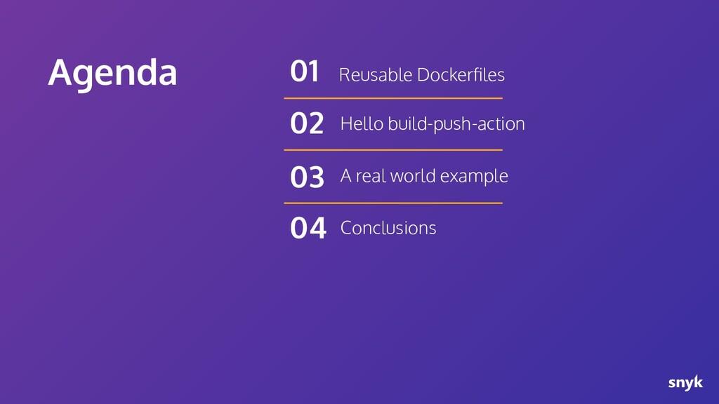 Agenda Reusable Dockerfiles 01 Hello build-push-...