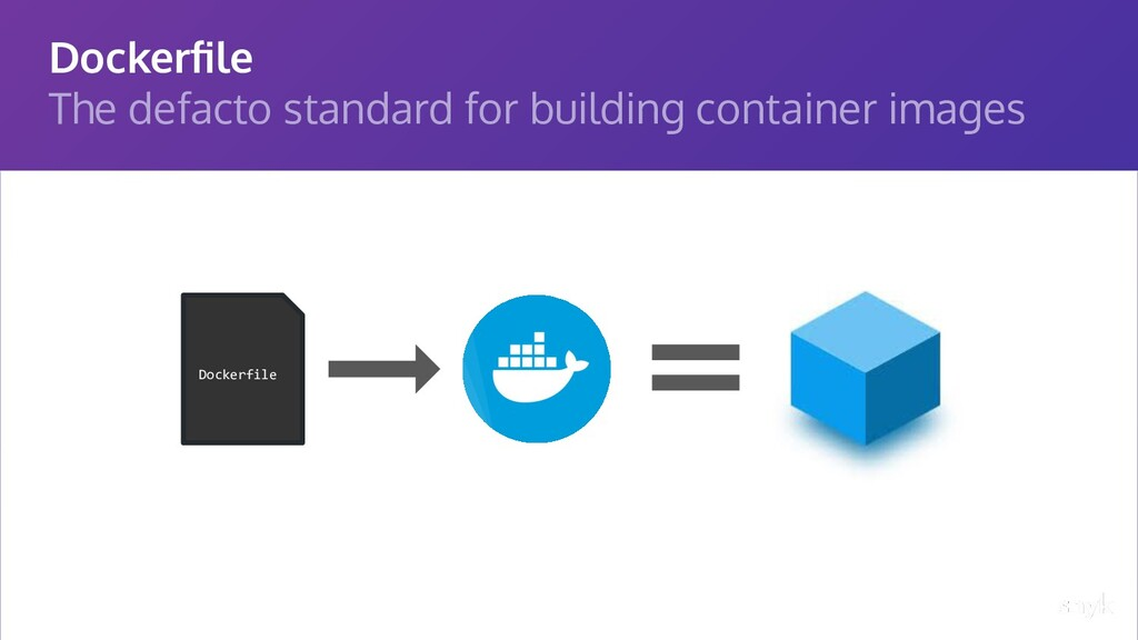 Dockerfile The defacto standard for building con...