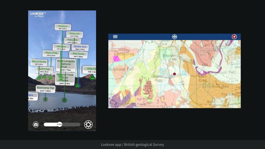 Looksee app / British geological Survey