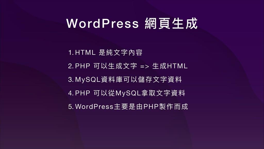 WordPress 姜殷ኞ౮ 1. HTML ฎ奈ਁ㲌  2. PHP ݢզኞ౮ਁ =>...