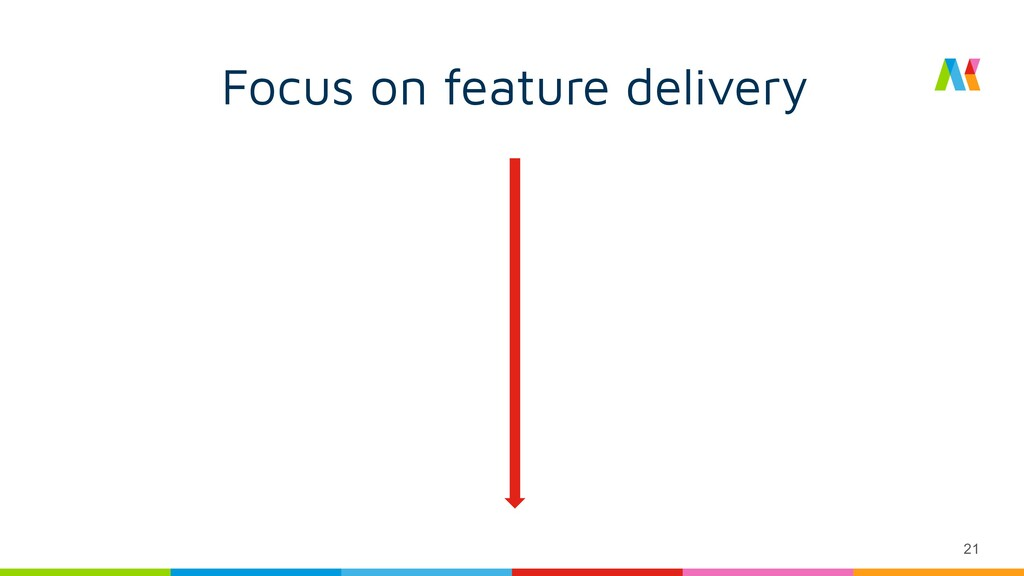 21 Focus on feature delivery