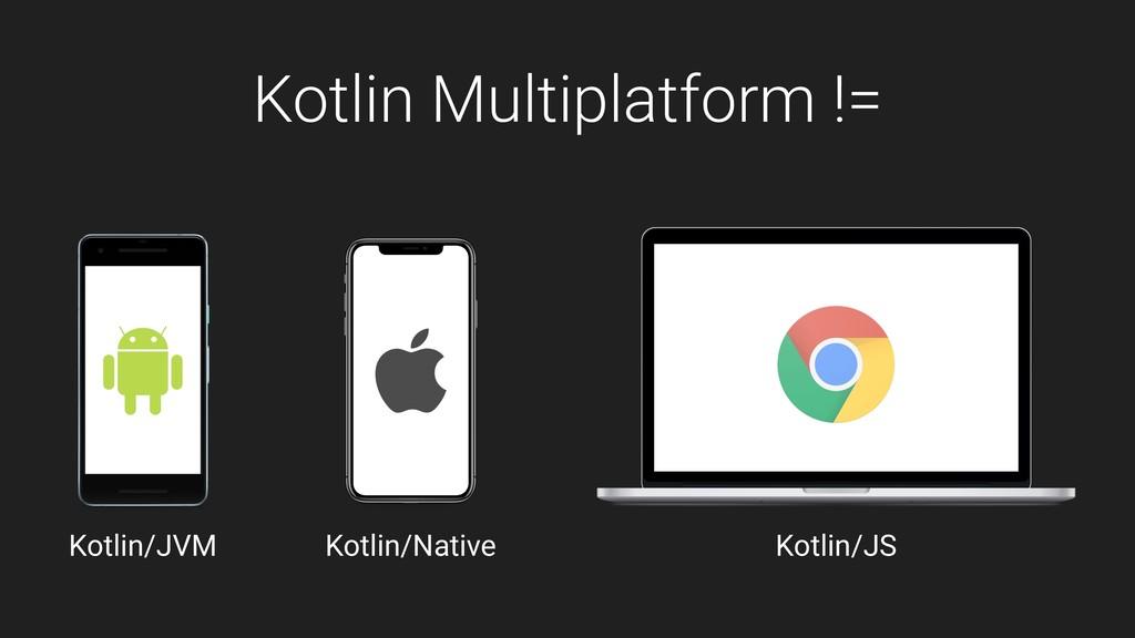 Kotlin Multiplatform != Kotlin/JVM Kotlin/Nativ...