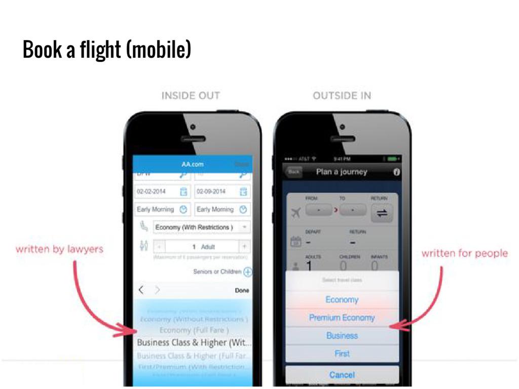 Book a flight (mobile)