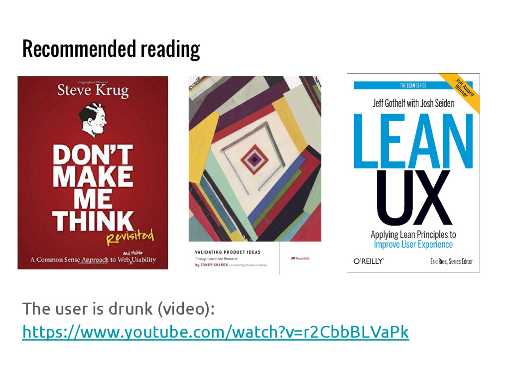 Recommended reading The user is drunk (video): ...