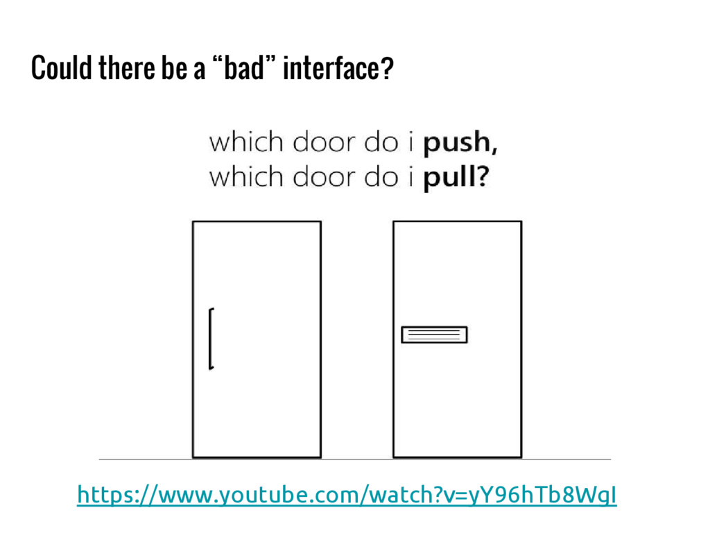 """Could there be a """"bad"""" interface? https://www.y..."""