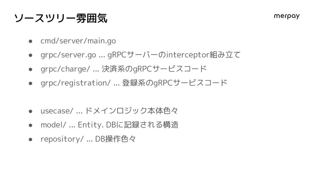 ソースツリー雰囲気 ● cmd/server/main.go ● grpc/server.go...