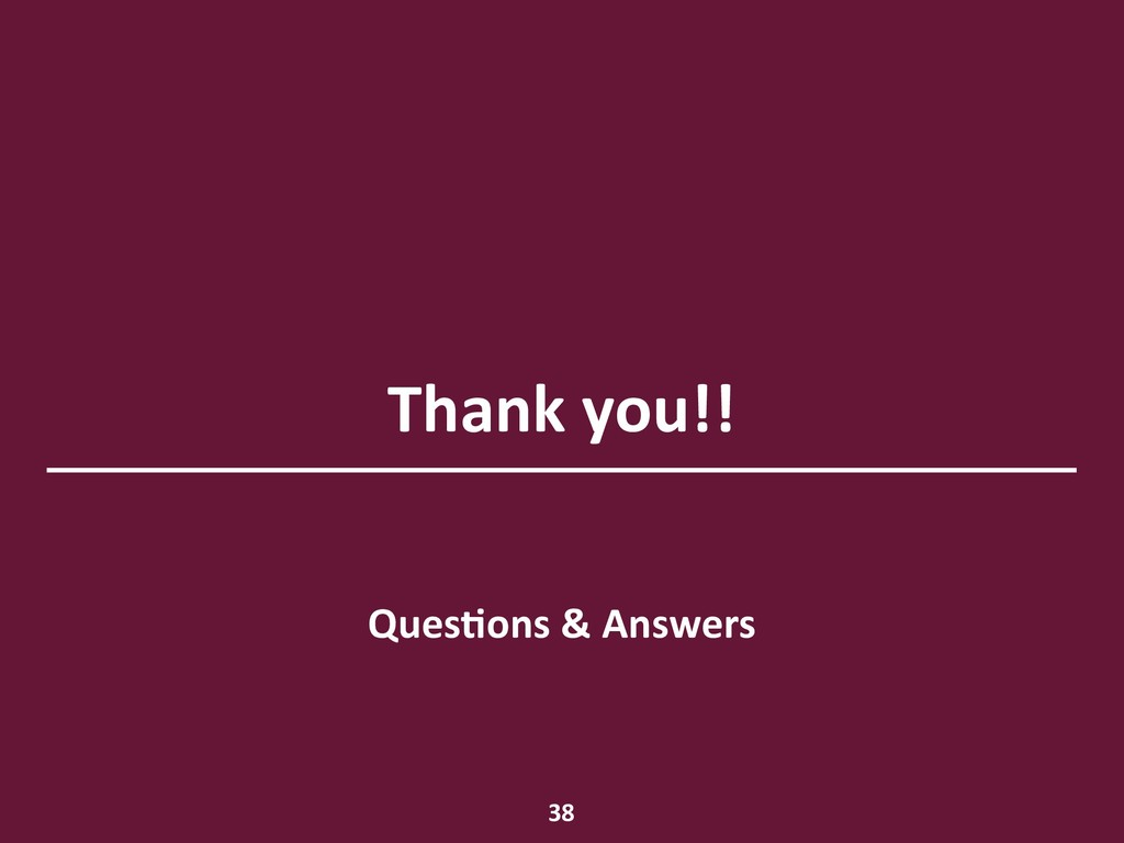 Thank you!! QuesHons & Answers 38