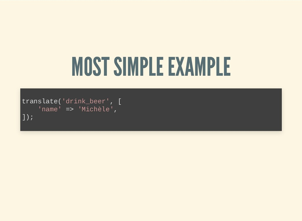 MOST SIMPLE EXAMPLE MOST SIMPLE EXAMPLE transla...