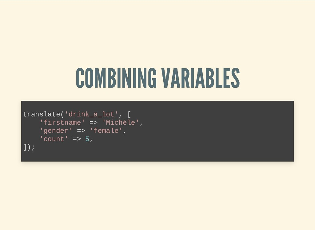 COMBINING VARIABLES COMBINING VARIABLES transla...