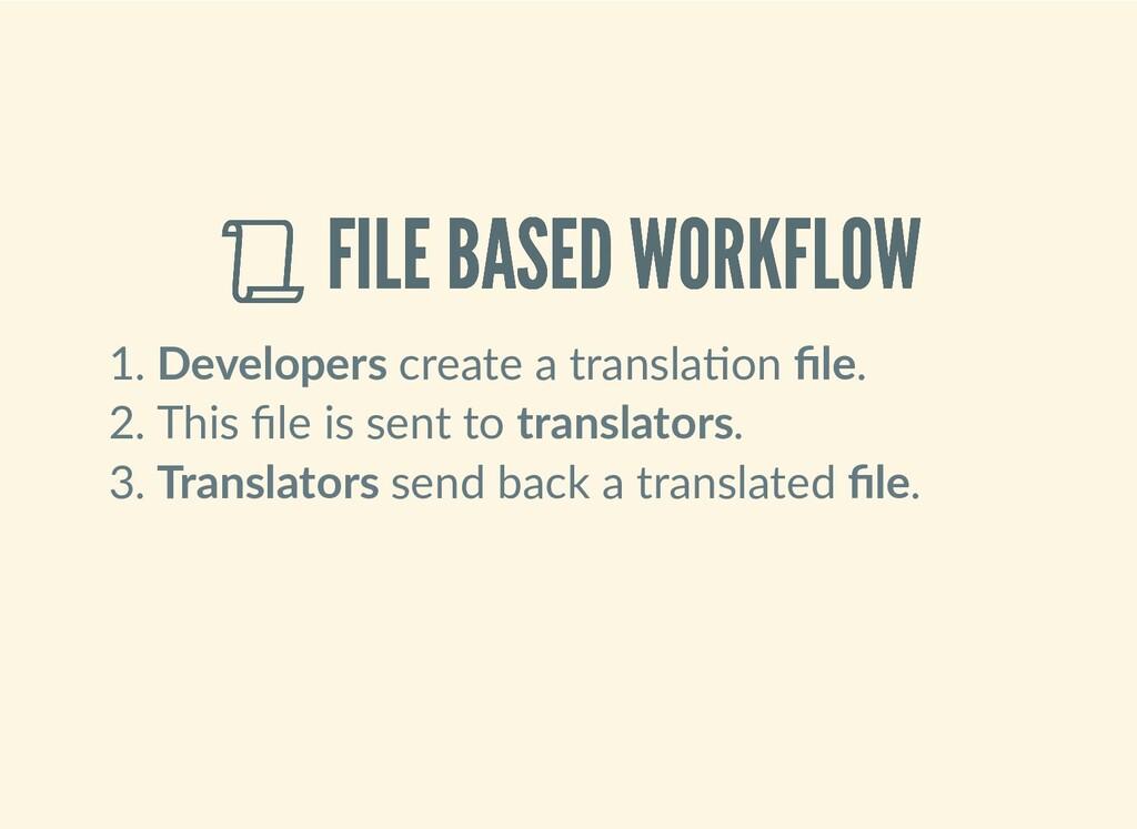 FILE BASED WORKFLOW  FILE BASED WORKFLOW 1. De...