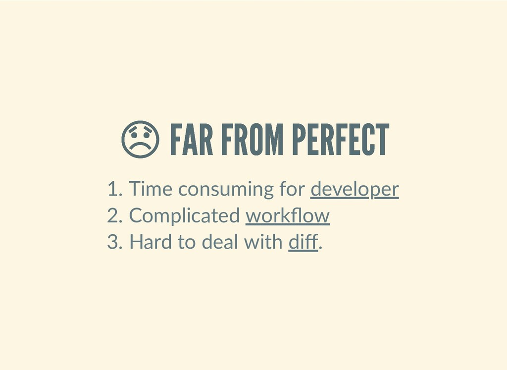 FAR FROM PERFECT  FAR FROM PERFECT 1. Time con...