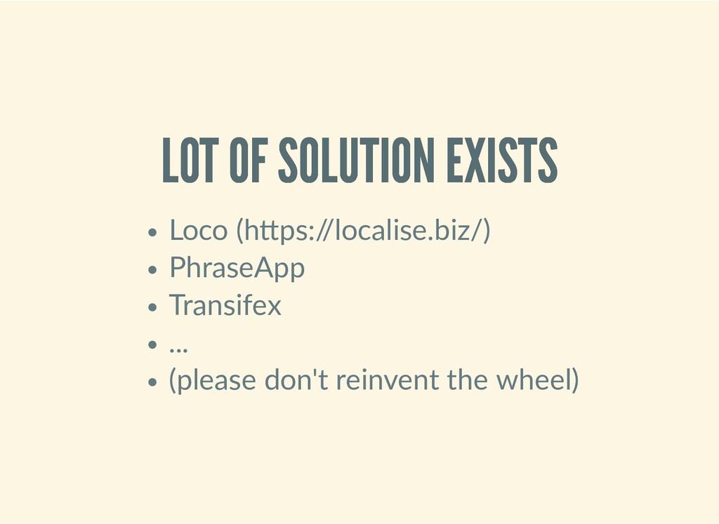 LOT OF SOLUTION EXISTS LOT OF SOLUTION EXISTS L...