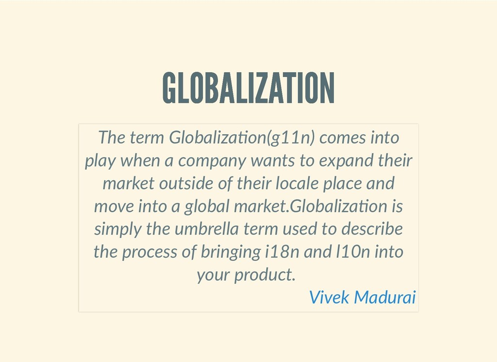 GLOBALIZATION GLOBALIZATION The term Globaliza ...