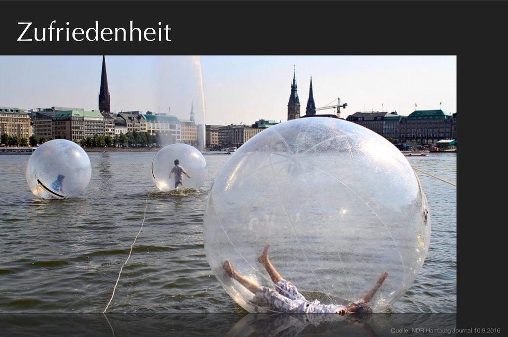 Zufriedenheit Quelle: NDR Hamburg Journal 10.9....