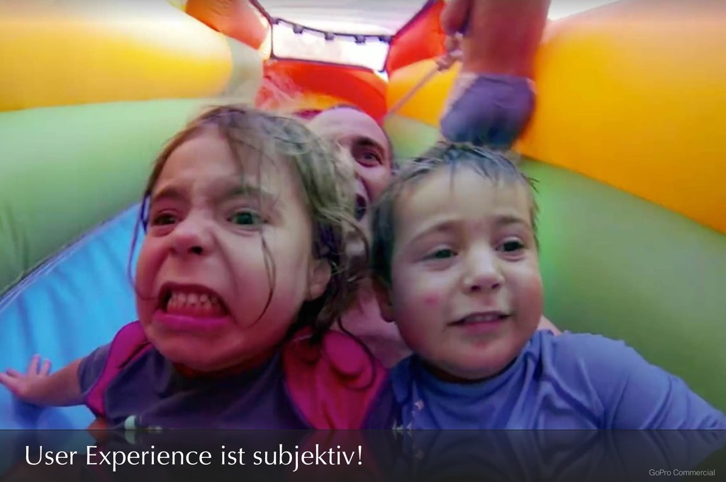 GoPro Commercial User Experience ist subjektiv!