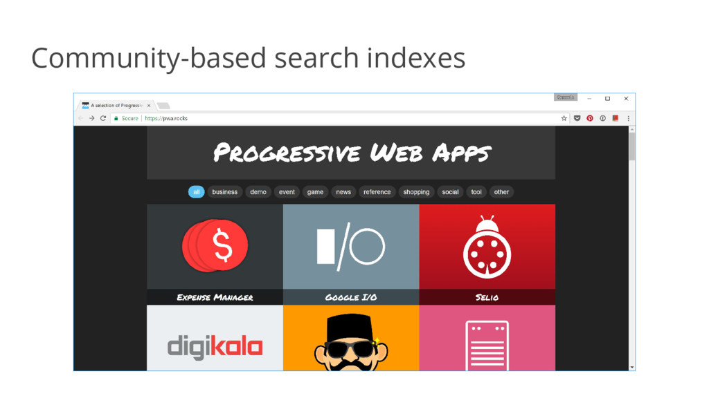 Community-based search indexes