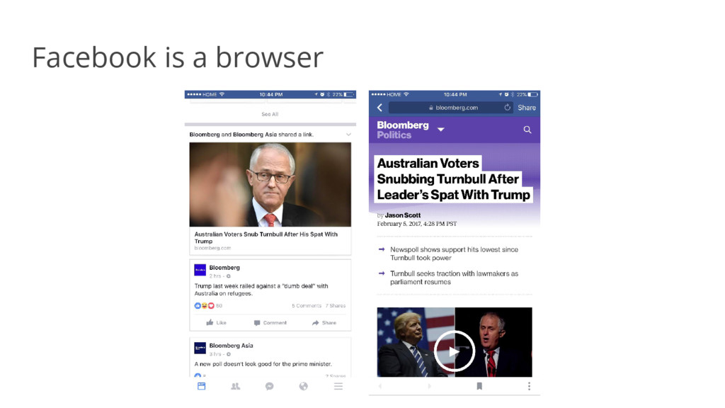 Facebook is a browser