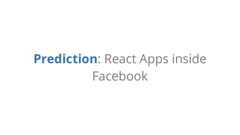 Prediction: React Apps inside Facebook