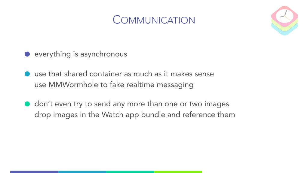 COMMUNICATION everything is asynchronous use th...