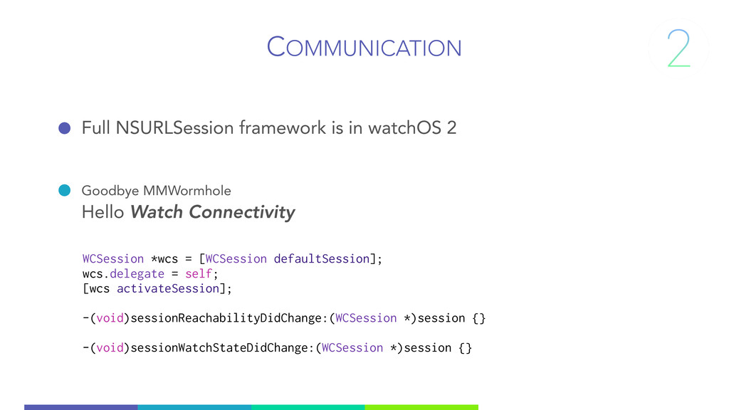 COMMUNICATION Full NSURLSession framework is in...