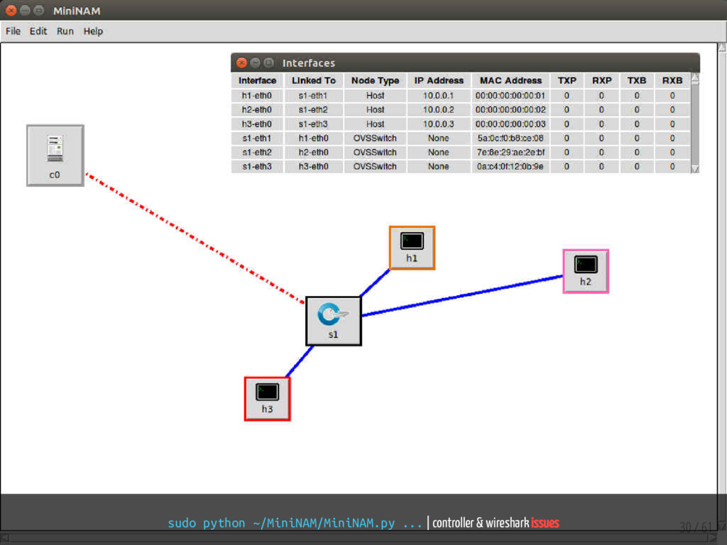 sudo python ~/MiniNAM/MiniNAM.py ...   controll...